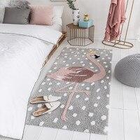 Роскошный полиэфирный материал ковер Детская/Детская комната Фламинго узор ковры прикроватная Ванна Противоскользящий пол коврик можно м