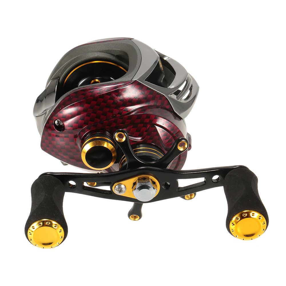 Fishidrops BC150 karpia kołowrotki kołowrotki metalowa szpula sprzęt wędkarski 6.3: 1 17 + 1 łożyska kulkowe lewo/prawa ręka Pesca