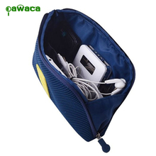 Digital Storage Bag Makeup Bag Hard Drive Organizer Kit Case Travel Gadget Devices USB Cable Earphone Pen Travel Insert Portable
