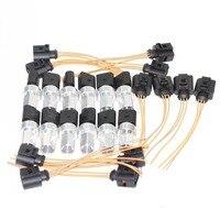 12 комплект для труб кондиционера Давление Сенсор выключатель + кабель жгутовый штепсельный разъем VW Jetta MK4 Гольф MK5 Passat B5 B6 Touareg 1K0 959 126E