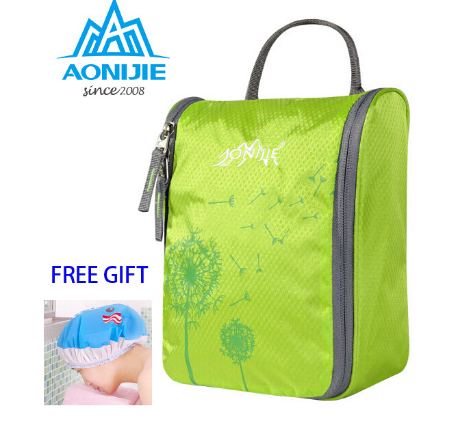 AONIJIE Male Womens Waterproof Wash bag Toiletries Bag Waterproof Nylon Wash Gargle Travel kit Bag