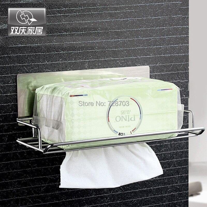 Nástěnný typ z nerezové oceli toaletního papíru stojan papíru extrakční držák pro kuchyňský pokoj a koupelna