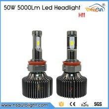 Free Shipping 100W High Power LED Auto Car Bulb H11 HeadLight LED White High or Low Beam 10000LM LED Headlamp Bulb H11
