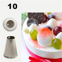 TTLIFE #10 Nozzle Cake Decorating Tips Stainless Steel Peach Icing Baking & Pastry Tools