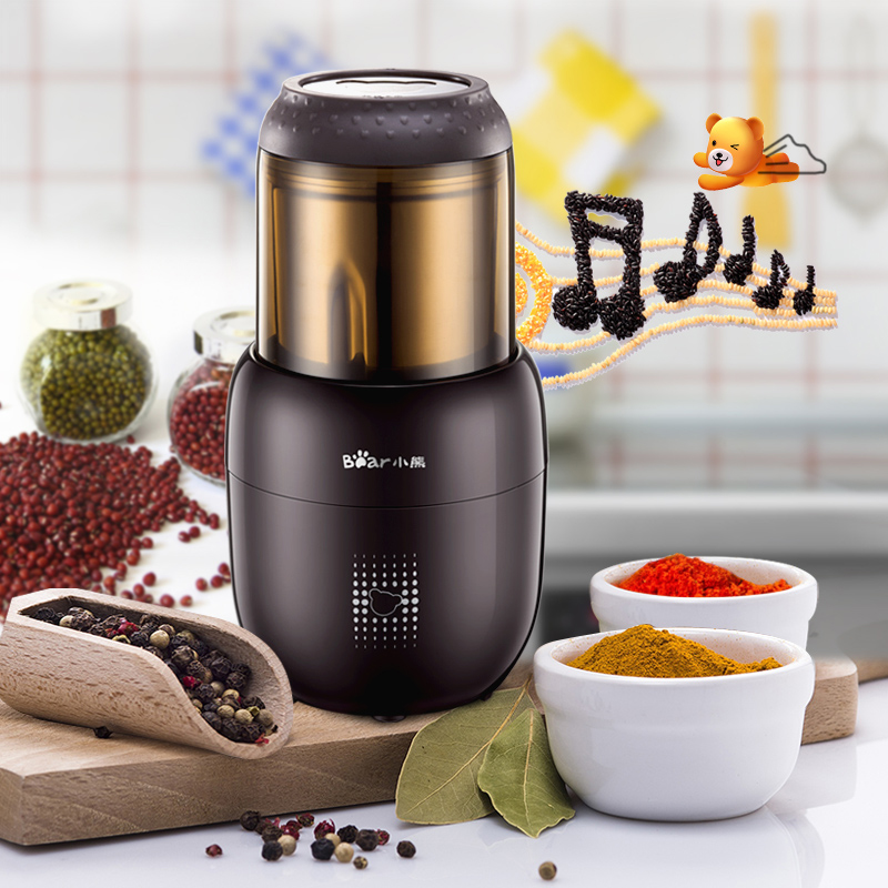 Electric Coffee Spice Grinder Maker with Stainless Steel Blades Beans Mill Herbs Nuts Moedor de Cafe Home Use stainless steel electric coffee spice grinder maker beans herbs nuts cereal grains mill machine home use eu plug