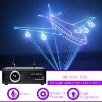 Sharelife 500 мВт 1 W ILDA SD карты анимация RGB DMX лазерный проектор свет дома Gig вечерние DJ Показать профессиональное сценическое освещение F500