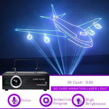 Sharelife 500mw 1W ILDA SD Card RGB Animation DMX Laser Projector Light Home Gig Party DJ Show Professional Stage Lighting F500