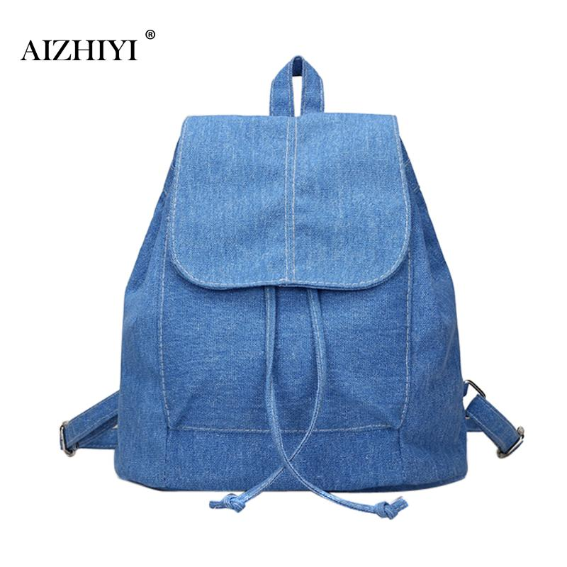New Fashion Spring Women Jeans Canvas Backpack Leisure School Bags for Teenager Girls Backpack Schoolbags Mochila Shoulder Bag
