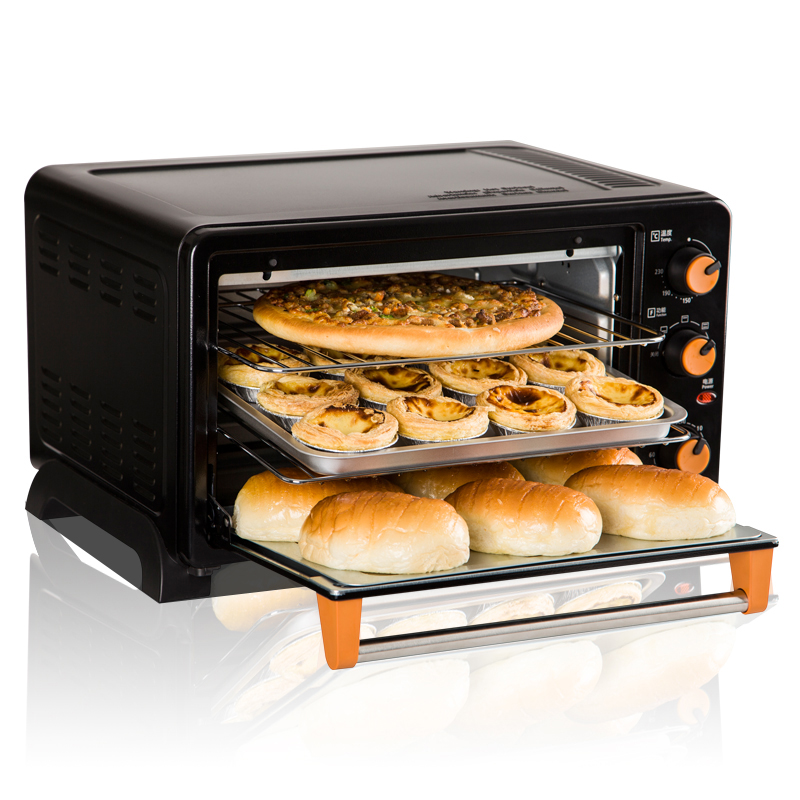 1500w Multi Function Electric Single Oven Home Baking Cake Mini 25L Automatic Baker Stainless Steel Roaster Horizontal Ovens multi function home mechanical 19l electric oven horizontal cake bread baking machine mini oven temperature control timing gift