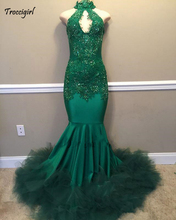 modabelle High Neck Green Prom Dress Robe De Bal Fille Off The Shoulder Appliques Lace Mermaid Dresses Bestidos Gala