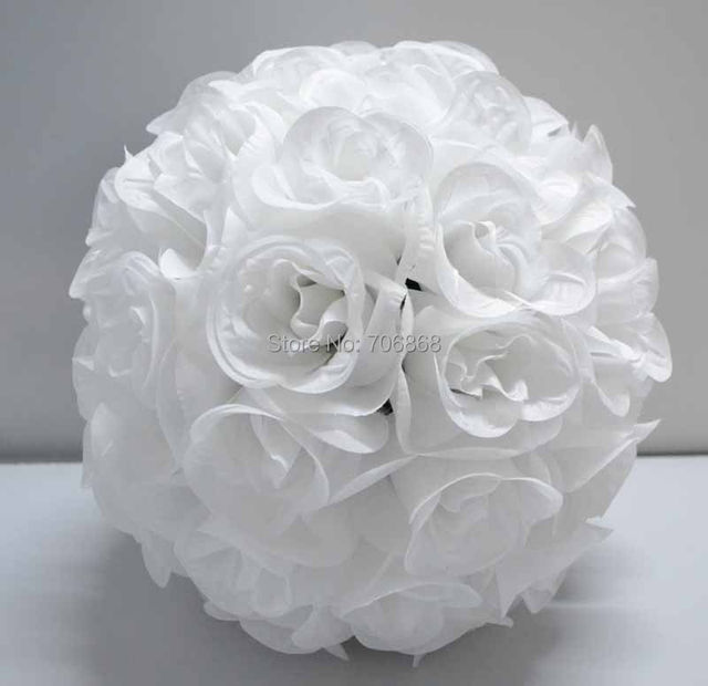 Online shop 12 pack of 10 free shipping rose kissing ball 12 pack of 10 free shipping rose kissing ball artificial silk flower wedding centerpieces decoration pure white color mightylinksfo