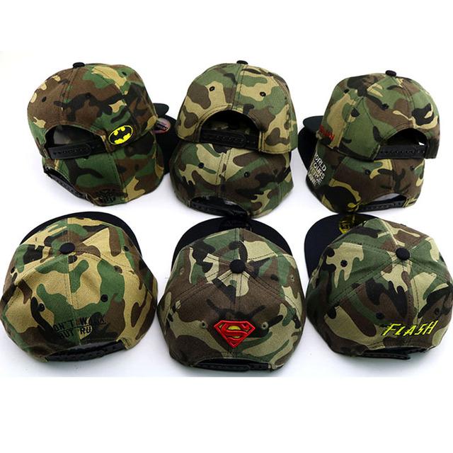 2019 Hot Spiderman superman Child embroidery Baseball Cap kids Boy Girl Hip Hop Army Camouflage hat/Sun Cap/Mesh cap/Snapbac hat