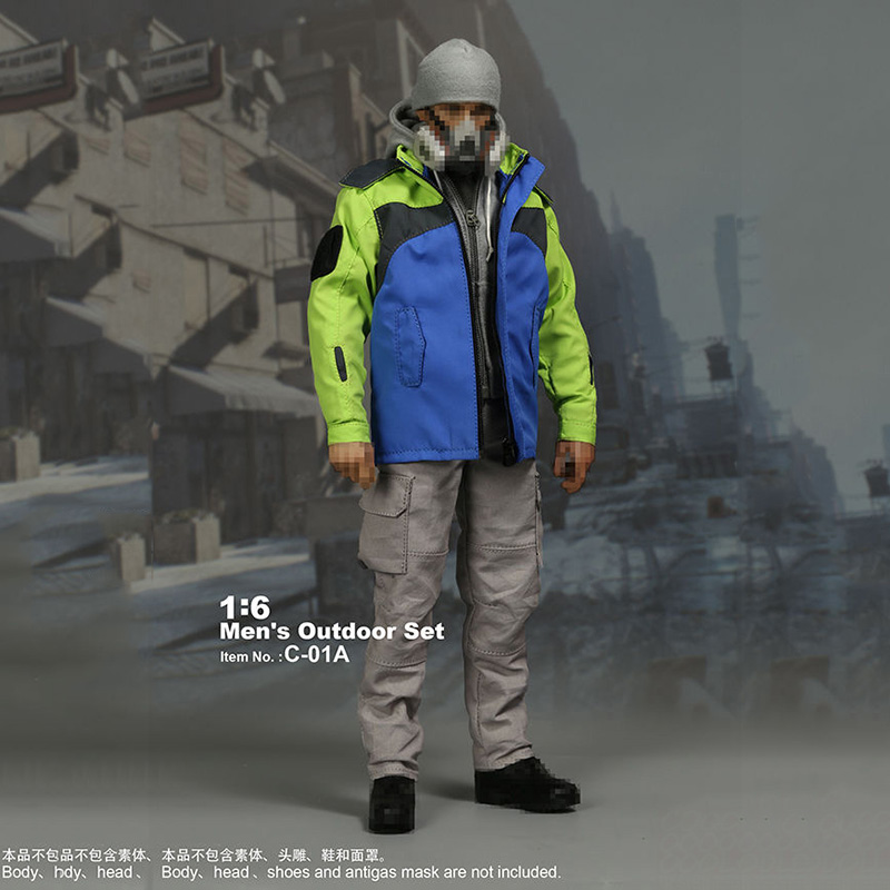 1/6 Scale Man's Outdoor Sport Set C-01A Casual Wear Suits for 12 inches Action Figures Accessories цена и фото