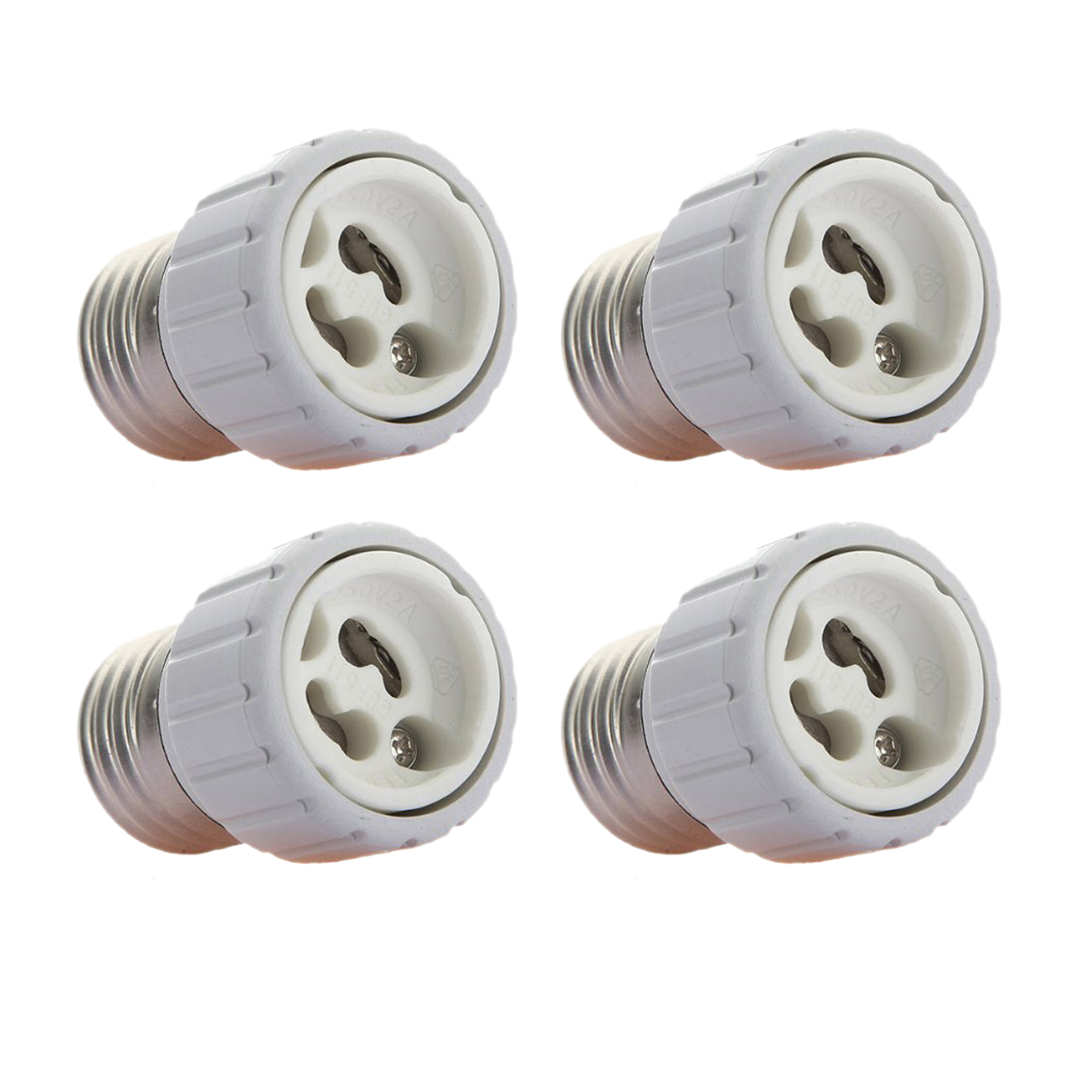 DHDL-4x E27 to GU10 LED light socket adapter socket adapter lamp bulb Converter White