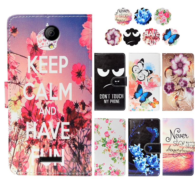 Fashion PU Leather Flip Print Wallet Case For Senseit N151 Case Cover Book Case 5.0Ultra-thin Phone Cover For Senseit N151 Case