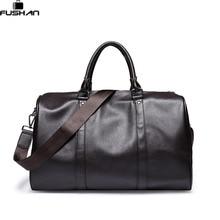 Luxus Marke Große Kapazität Leder herren reisetaschen Vintage Eimer handtaschen schultertasche Große Volumen männer Business gepäcktasche