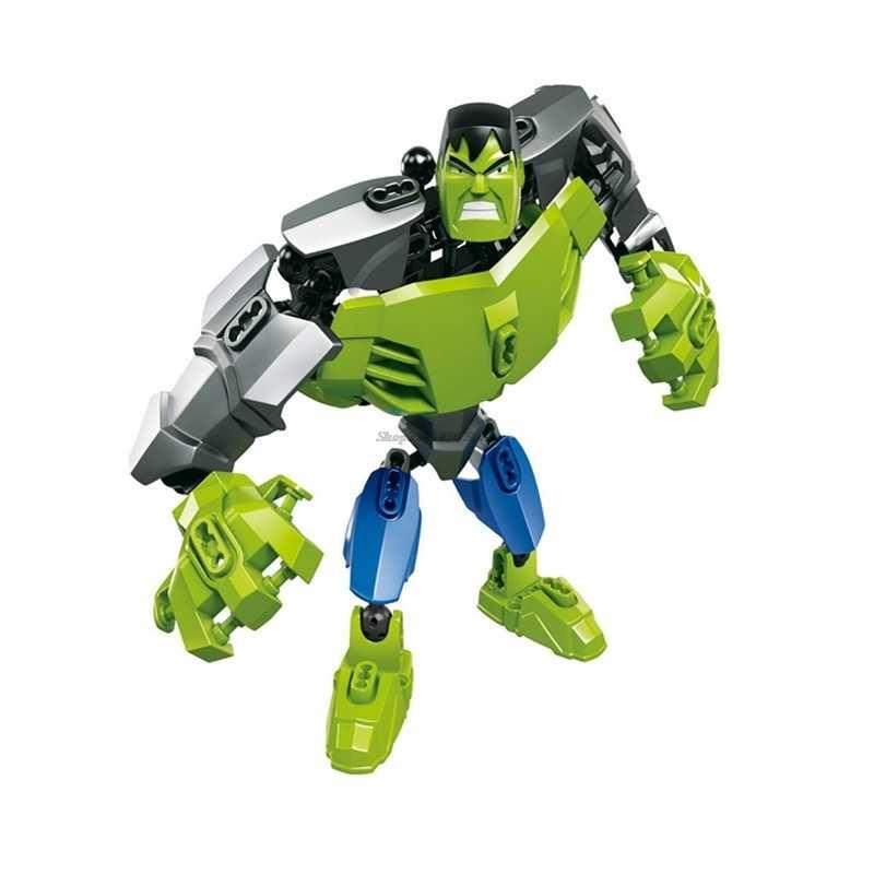 Marvel Super Héroes vengadores 4 Endgame Iron Man Thanos Capitán América Hulk bloques de construcción compatibles chico niños Marvels Legoingly
