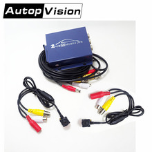 T310 2CH AHD DVR 2PCS AHD MINI 2MP 1080P Cameras Video Security Surveillance DIY Kit Car rear view Driving Record