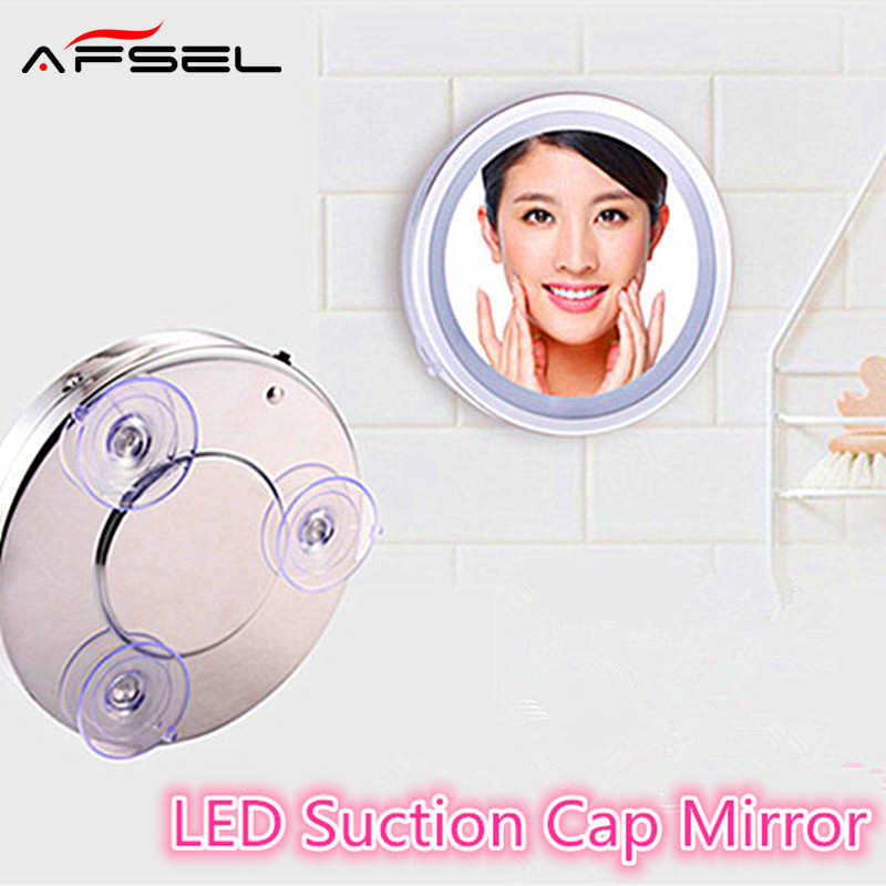AFSEL 6 Inch 5X Led Suction Cup Mirror Makeup Single Side Cosmetic Mirror  Lights Compact Of. Compare Prices on Suction Cup Mirror  Online Shopping Buy Low