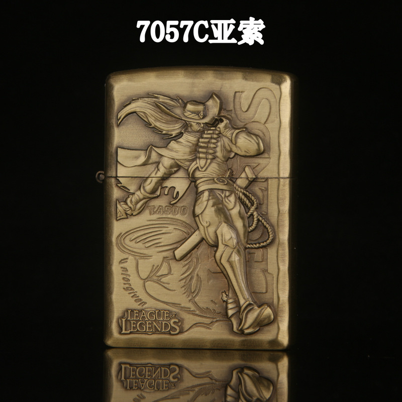 Random Style Cigarette Lighter Game LOL Refillable Kerosene Oil Lighters Tobacco Antique Flip Top Lighter  Gadgets For Men