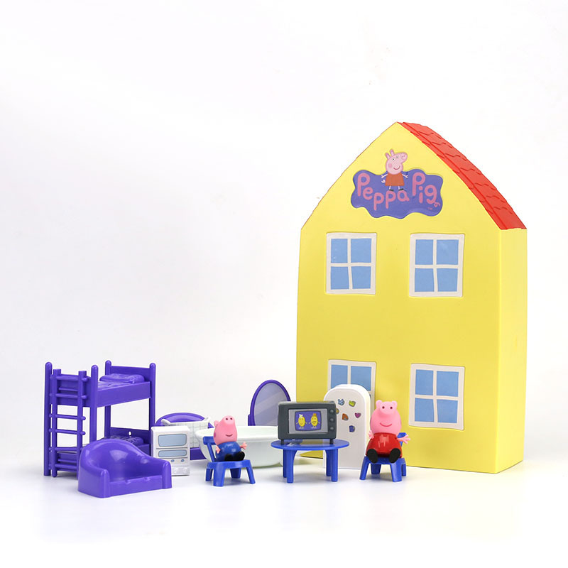 Image 3 - 2019 New Genuine PEPPA PIG   peppa pig's house playset with Peppa George figure KIDS TOY children's Birthday gift Hot sale-in Action & Toy Figures from Toys & Hobbies