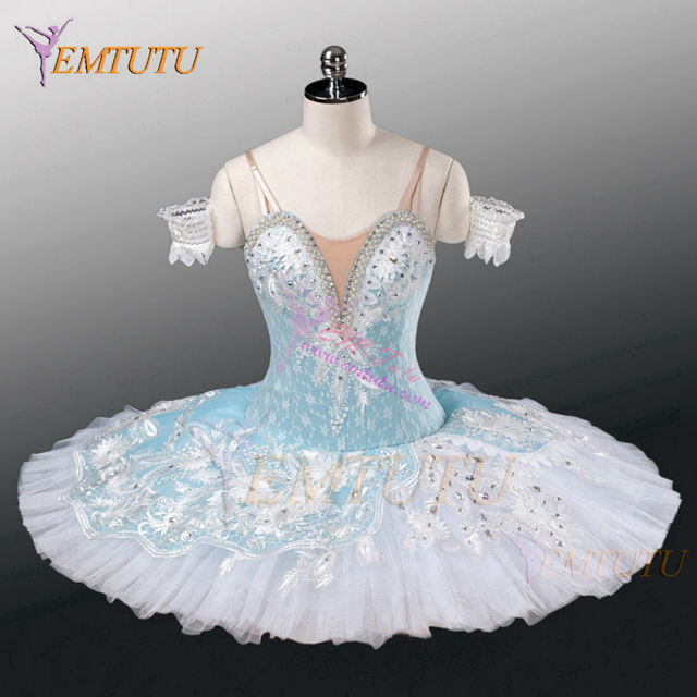 bb2203057 Adult Professional Ballet Tutu Blue White Nutcracker Performance Pancake  Tutus Ballet Stage Costume Women