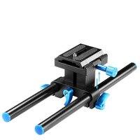 Neewer Universal Aluminum 15mm Rail Rod Support System High Riser DSLR Mount Baseplate 9.8