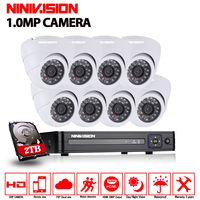 AHD 8CH CCTV System 1080P HDMI AHD DVR Kit 1200TVL Indoor Security Night Vision 8