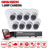 AHD 8CH CCTV System 1080P HDMI AHD DVR Kit 1200TVL Indoor Security Night Vision 8