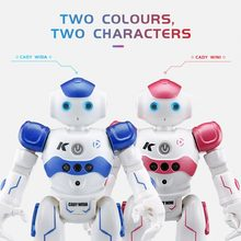 JJR/C R2 Robot Toy Dancing Robot Intelligent Gesture Control RC Robot Toy Blue Pink for Children Kids Birthday Gift USB Charging(China)