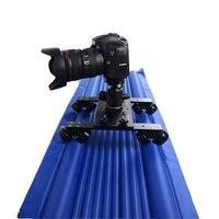 전문 트랙 슬라이더 카메라 디자인 여행 휴대용 최고의 비디오 슬라이더 1.2 메터 120 센치메터 돌리 트랙