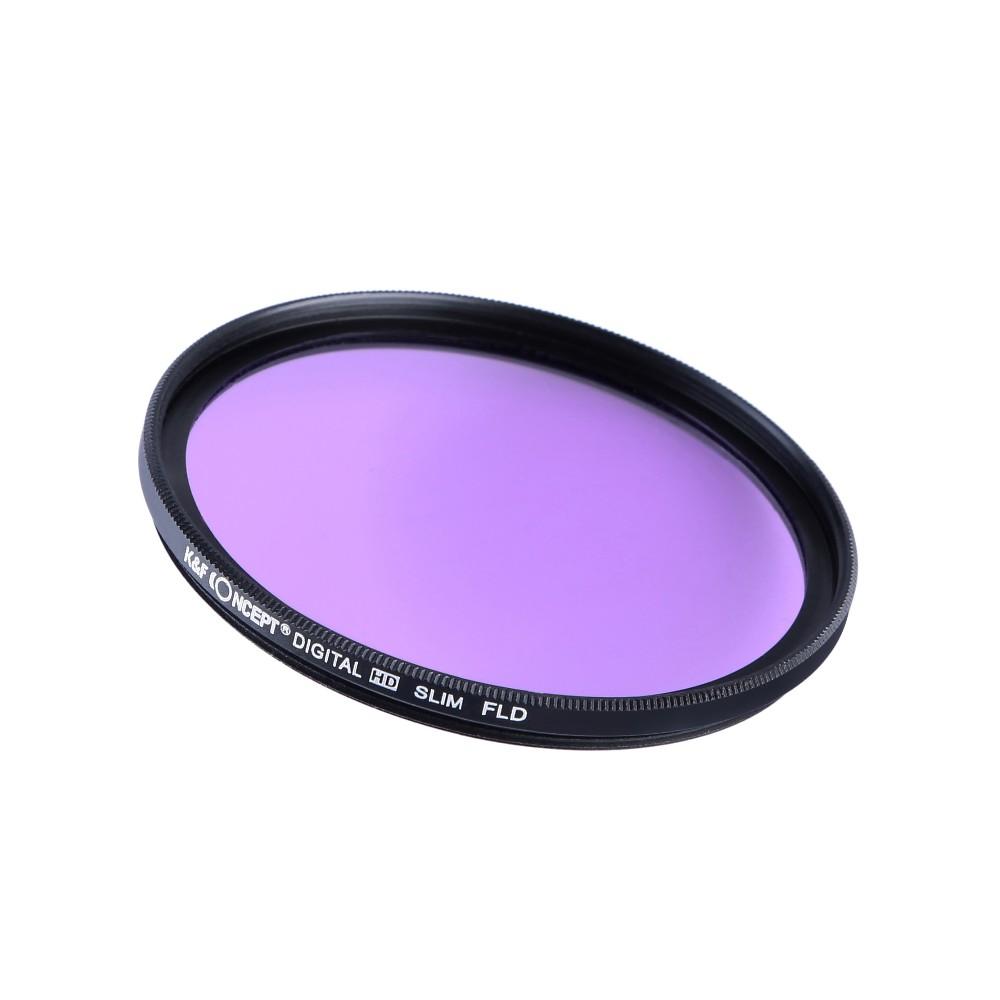 K&F CONCEPT UV+CPL+FLD+ND4 Neutral Density Camera Lens Filter Kit+Bag+Lens Hood Cap+Cleaning Cloth For Canon/Nikon/Sony DSLR 5