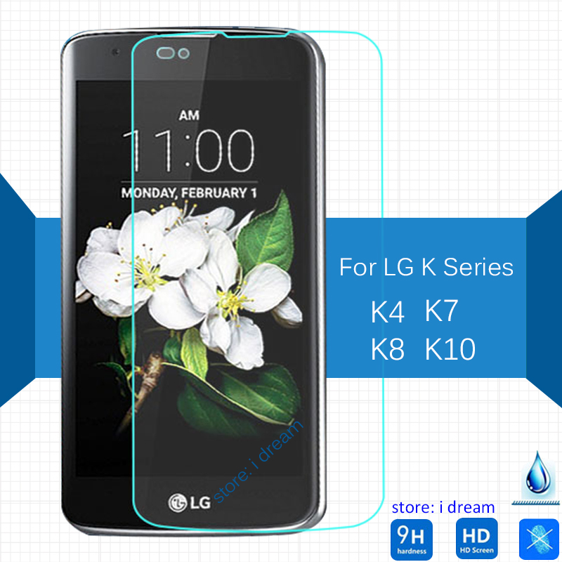 2PCS For LG K4 K7 K8 K10 Tempered Glass Screen Protector 2.5 9h Safety Protective Film On K 4 7 8 10 K410 K420N K430 K350 K130
