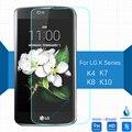Para lg k4 k7 k8 k10 lte vidrio templado protector de la pantalla 2.5 9 h película protectora de seguridad en k 4 7 8 10 k410 k420n k430 k350 K130