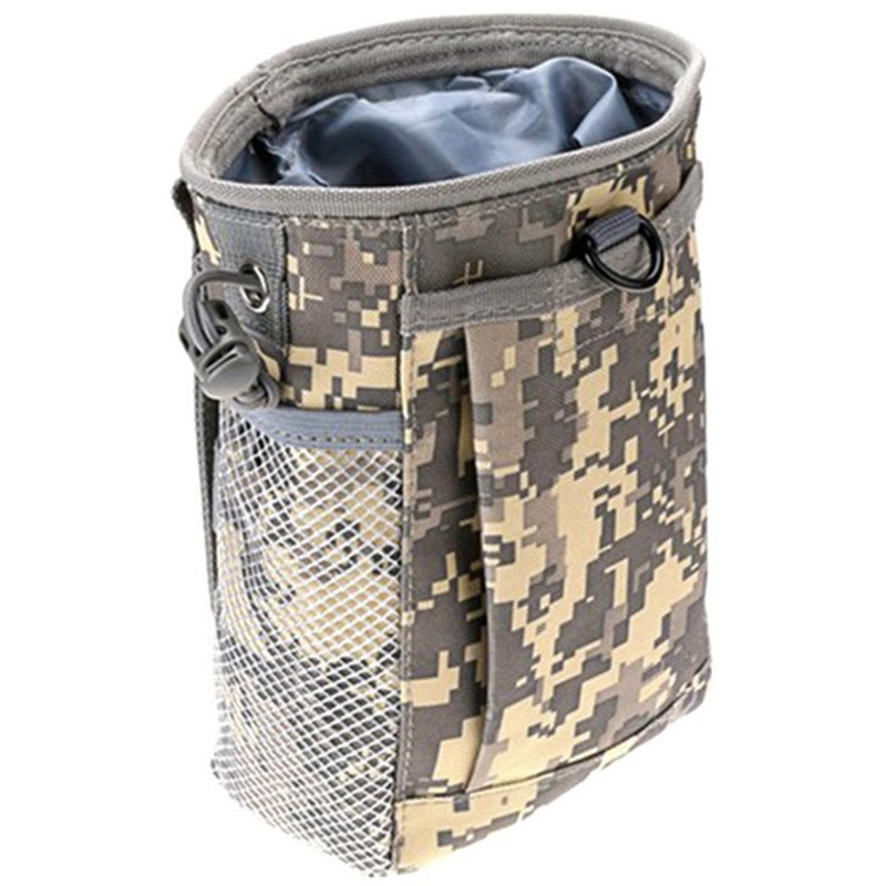 Molle System Hunting Magazine Dump Drop Pouch Recycle Waist Pack Ammo Bags Hunting Accessories Bag,Acu