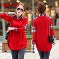 2017 Free Shipping Fashion New Women Sweaters Pullover Loose Long Plus Size Tunic Top Knitwear Woman Female Tops 8 colors