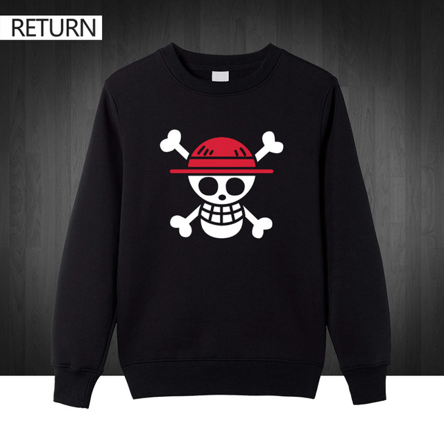 One Piece Clothing Sweatshirts Cotton Men Hoodie