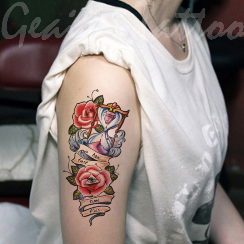 Large Temporary Tattoo Stickers Waterproof Women High