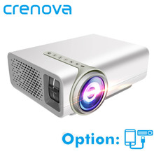 CRENOVA Mini Projector For Home Theater System Movie Video Projector With HDMI VGA AV USB Wired With The Same Screen Beamer