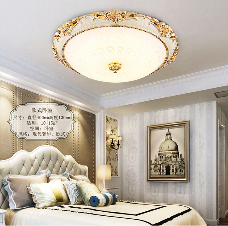 LED continental Ceiling Lights bedroom living room modern crystal glass ceiling lamp living room lighting Ceiling lamp ZA FG73