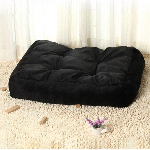 6 Size Soft Fleece Pet Dog Bed Cushion Bone Print Large Breed Dog Beds For Labrador Golden retriever Summer Dog Mat 2