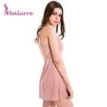Wealurre Summer Lace Sexy Lingerie Costumes  Women's Sex Underwear Nightdress Deep V Nightgown G-string Sleepwear
