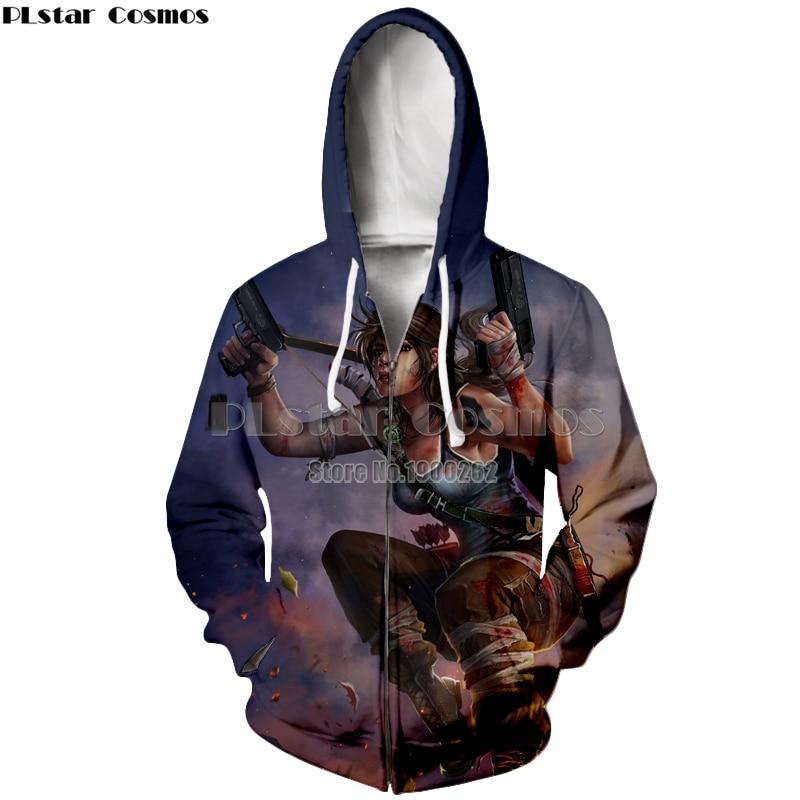 PLstar Cosmos Tomb Raider Fantasy Action Movies Hoodies Hooded zipper Hoodie Long Sleeve Women Men Plus size S 5XL in Hoodies amp Sweatshirts from Men 39 s Clothing