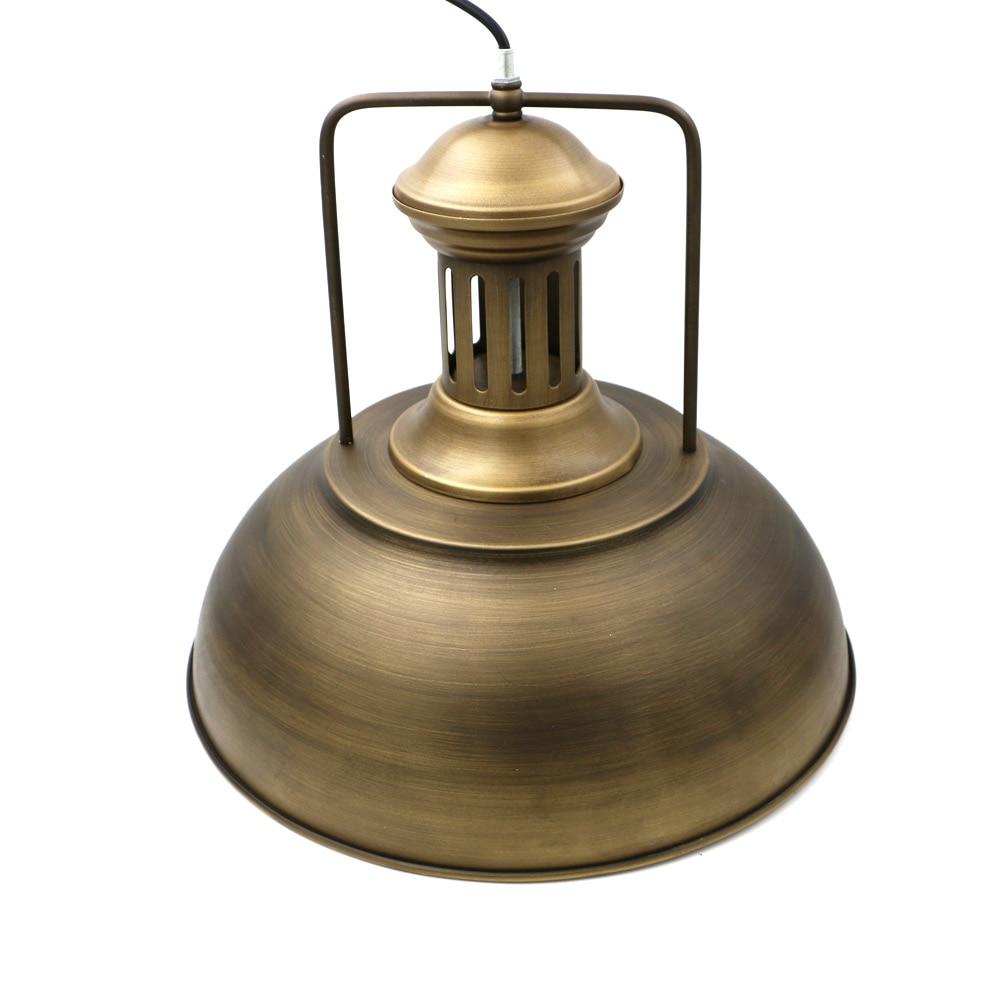 Retro iron pendant light iron pot lampshade abajur Dia 41CM Big pendant lamp Cafe Restaurant lid Nordic Coffee Shop lamp