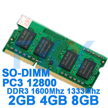 Brand Memory DDR3 Ram 1600Mhz 2GB 4GB 8GB for Laptop Notebook Sodimm Memoria Compatible with DDR 3 1600 1333 Mhz 1066 Mhz