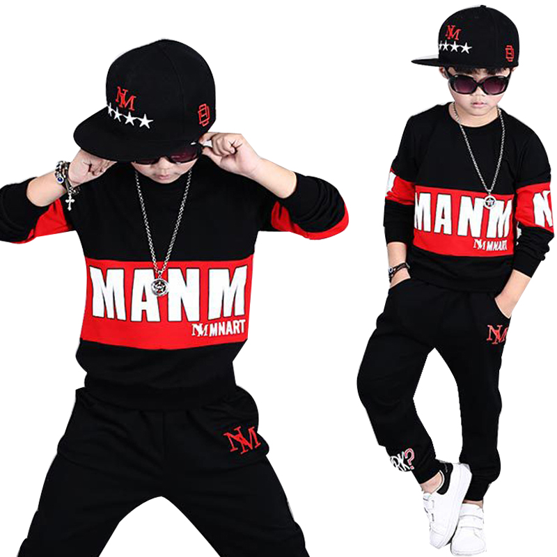 цена 12 Years Hip Hop Clothing For Boys 2 pieces set animal printing Teenage Boys Clothes Set Children Sport Costumes suit for boy