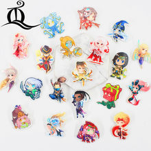 fashion lol 1 PCS Painting cartoon mix skeleton for Clothing Acrylic Badges Kawaii Icons on The Backpack Pin Brooch Badge Z23(China)
