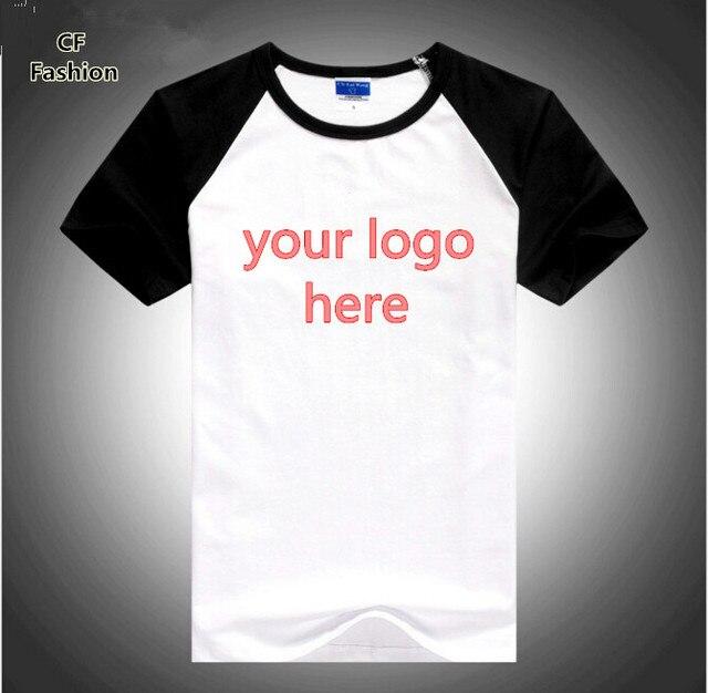 Собственный логотип футболки 8 цветов высокое качество летом стиль футболка homme 100% хлопок унисекс мужчины майка бренд одежды tee топы