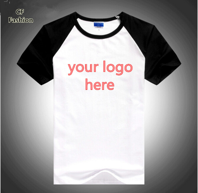 custom logo t shirts 8 colors high quality summer style
