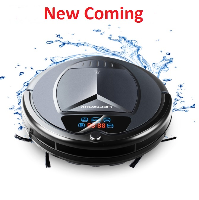 (Ship from Russia)Wireless smart Vacuum Cleaner Robot with Water Tank,Wet & Dry Mop,Touch Screen,Tone,Schedule,Self Charge,UV 2017 wifi smartphone app control sweeping vacuum sterilize wet and dry mop vacuum cleaner robot qq6 update with water tank